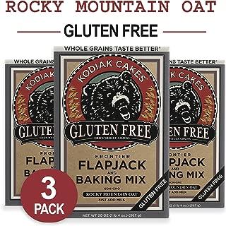 Kodiak Cakes Gluten Free Protein Pancake Flapjack & Waffle Baking Mix, Rocky Mountain Oat, 20 oz (Pack of 3)