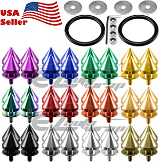 Gold Spiked Quick Release Fasteners For Car Bumpers Trunk Fender Hatch Lids Kit