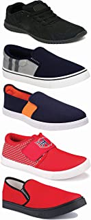 WORLD WEAR FOOTWEAR Sports Running Shoes/Casual/Sneakers/Loafers Shoes for Men Multicolor (Combo-(5)-1219-1221-1140-383-771)