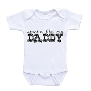 Stuntin Like My Daddy Baby Onesies Lyrics Hilarious Funny Rompers (12 Months)