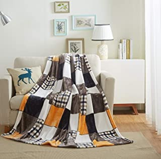 Best orange plaid blankets Reviews