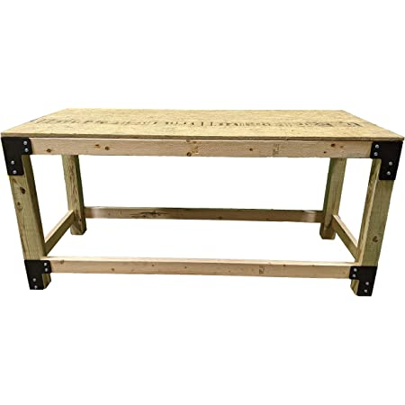 C2M 72 Piece Workbench Bracket Kit | Heavy Duty 7ga. Steel MADE IN USA | Custom Sized Work Table System for Garage, Shop, Industrial, & Crafting | Heavy Duty Right Angle Brackets