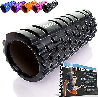Rodillo de espuma para masaje muscular (Libro de ejercicios incluido) diseño de rejilla..