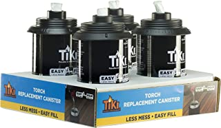 TIKI Torch Replacement Canister with Easy Pour System, 12 Ounce (Pack of 4) (Renewed)