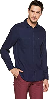 Nation Street Men's Solid Slim Fit Casual Shirt