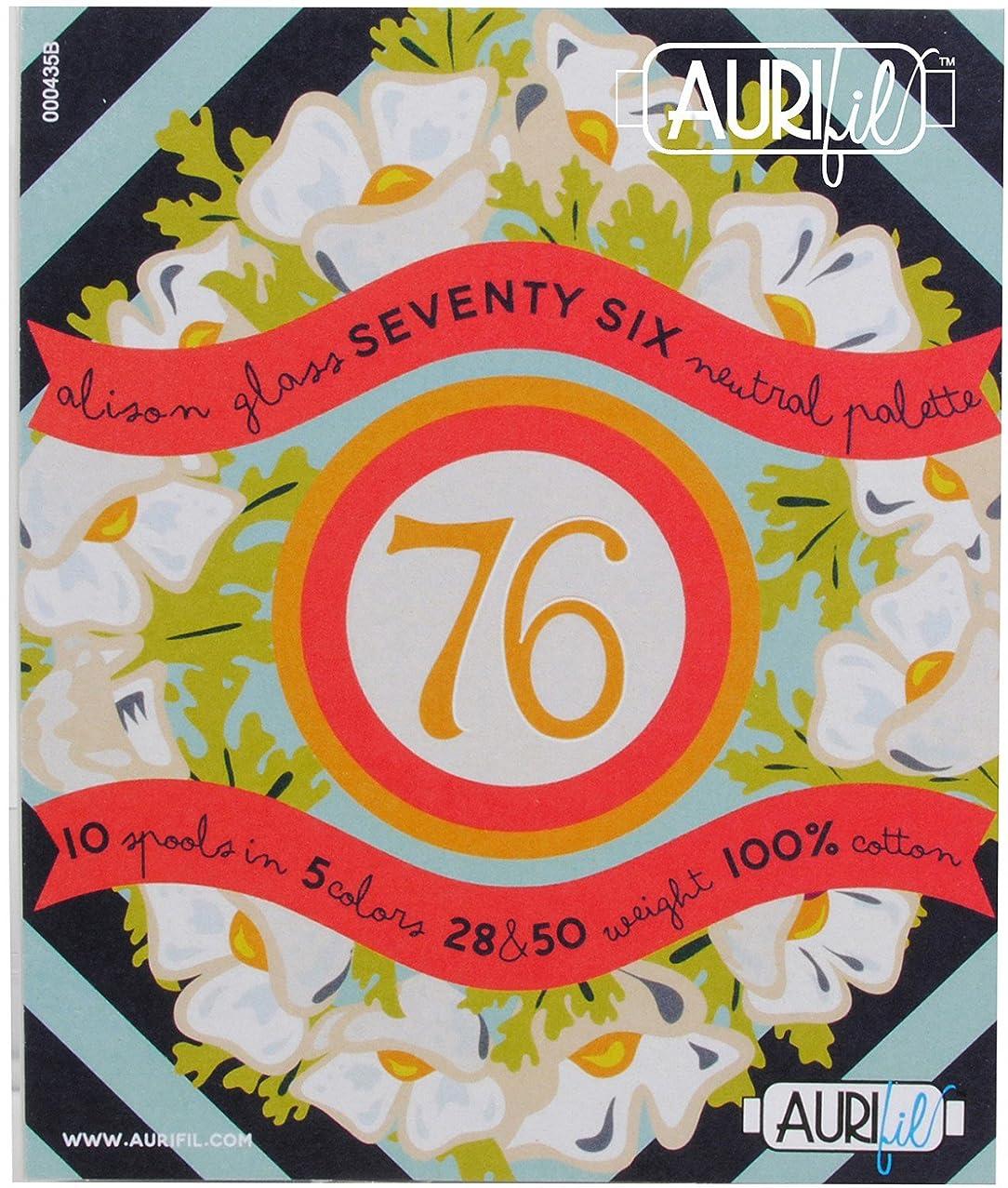 Alison Glass Seventy Six Neutral Aurifil Thread Kit 5 50wt and 5 28wt Small Spools AG5028SSNP10