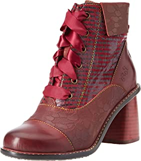 Laura Vita Coralie 11 Womens Red Multicolour Leather Brogue Shoes
