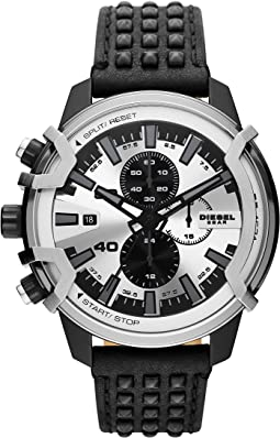 Griffed Chronograph Leather Watch - DZ4571