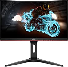 "AOC C24G1A 24"" Curved Frameless Gaming Monitor, FHD 1920x1080, 1500R, VA, 1ms MPRT, 165Hz (144Hz supported), FreeSync Prem..."