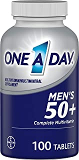 Bayer One-A-Day, Men's 50+, Healthy Advantage, Multivitamin/Multimineral Supplement, 100 Tablets