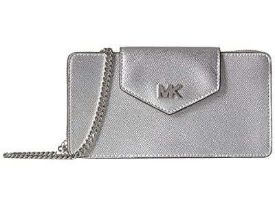 MICHAEL Michael Kors Small Convertible Phone Crossbody (Silver) Handbags