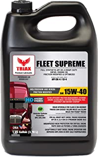 Triax Full Synthetic 15W-40 Fleet Supreme API CK-4 / CJ-4