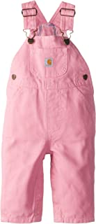 Little Girls' Washed Microsanded Canvas Bib Overall Flannel Lined