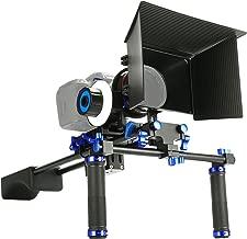 SunSmart Pro DSLR Rig video camera Shoulder Mount Kit including DSLR Rig shoulder support, Follow Focus and Matte Box for All DSLR Video Cameras and DV Camcorders