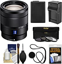 Sony Alpha E-Mount Vario-Tessar T 16-70mm f/4.0 ZA OSS Zoom Lens + Battery & Charger + 3 Filters Kit for A7, A7R, A7S Mark II, A5100, A6000, A6300