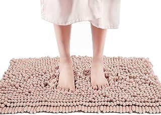 FreshMint Chenille Bath Rugs Extra Soft and Absorbent Microfiber Shag Rug, Non-Slip Runner Carpet for Tub Bathroom Shower ...