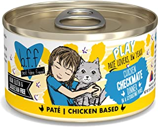 B.F.F. Play - Best Feline Friend Pate Lovers aw Yeah! Grain-Free Natural Wet Cat Food Cans, Chicken Pate Recipes