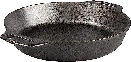 Lodge BW10BSK 10.25 Inch Seasoned Cast Iron Baker's Skillet, Black