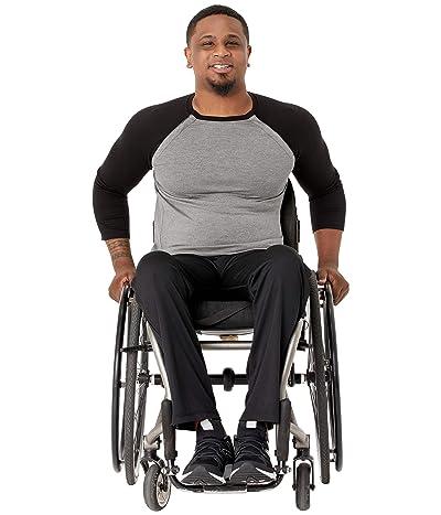 Abilitee Adaptive Wear Adaptive Shoulder Snap Baseball Tee (Black) Clothing