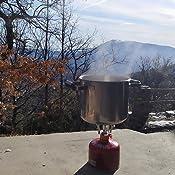 zoeson Hornillo de Acampada Hornillo de Camping Portátil de para Mochilero, Senderismo, Montañismo