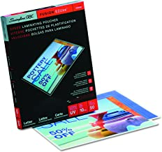 GBC Thermal Laminating Sheets / Pouches, Letter Size, 10 Mil, Speed Pouch, EZUse, 50-Count (3200599)