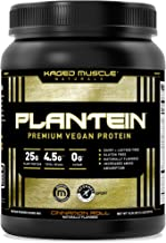 Vegan Protein Powder; Kaged Muscle Plantein, Delicious Organic Pea Protein Powder with Enhanced Absorption (15 Servings, C...