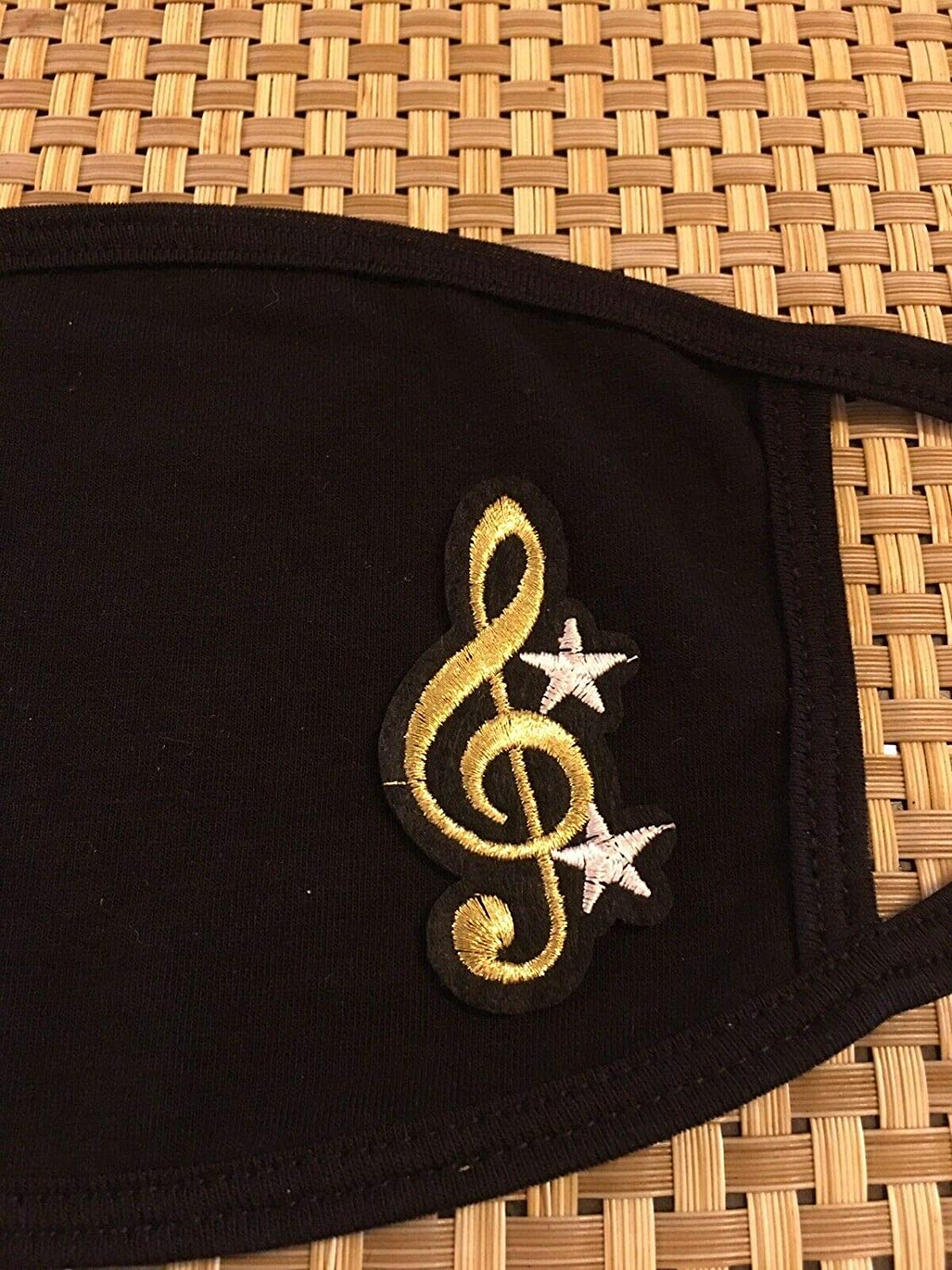 Treble Clef Music Gold Design Face Mask Cotton Blend Max 69% OFF Covers Popular