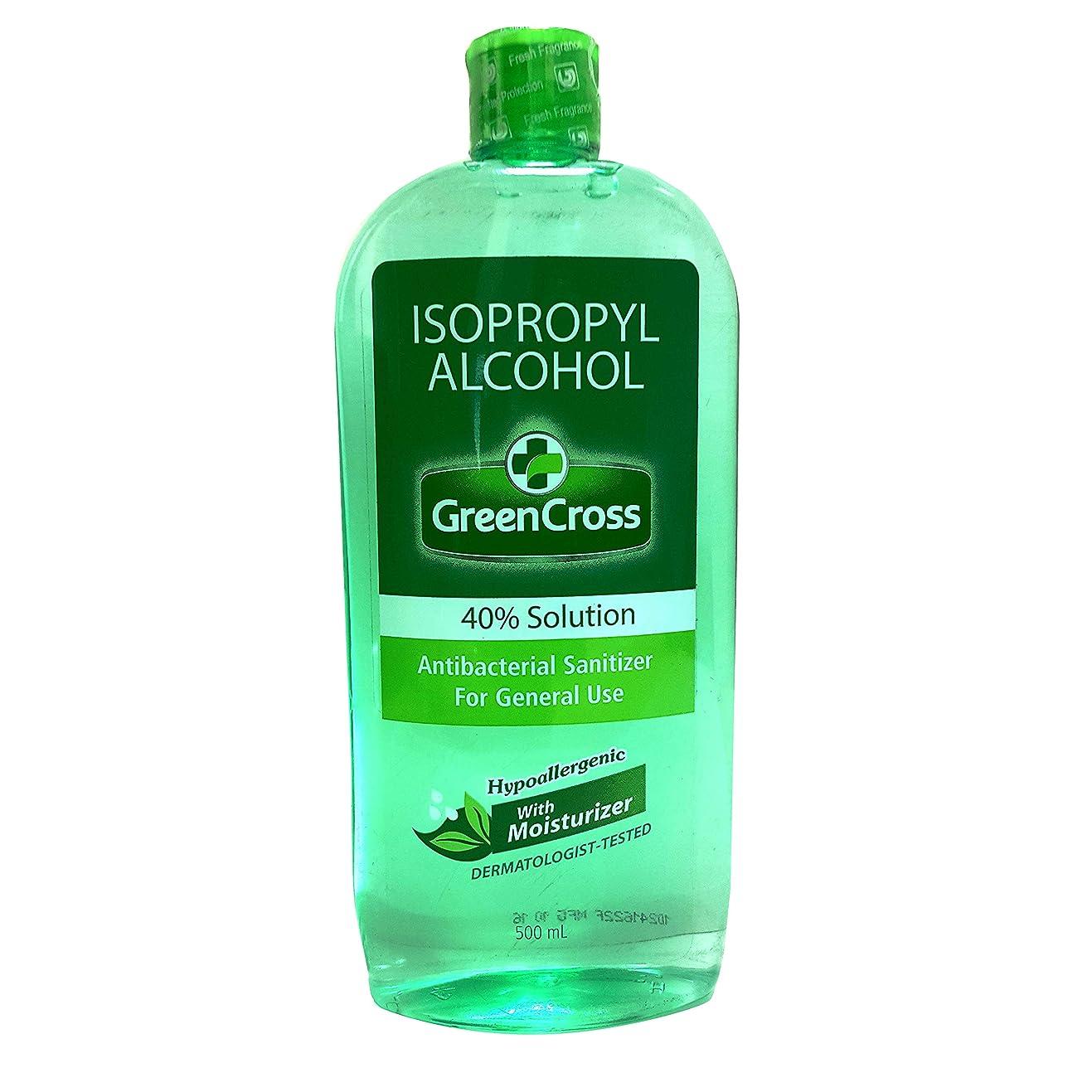 反応するマーガレットミッチェル重要なGREEN CROSS with Moisturizer Rubbing  ALCOHOL 40% 500ml グリーンクロス ウィズ モイスチャー 手洗い用 アルコール