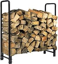 KINGSO 4ft Firewood Rack Outdoor Heavy Duty Log Rack Firewood Storage Rack Holder Steel Tubular Easy Assemble Fire Wood Ra...