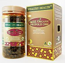 Wealthy Health Dark Organic Propolis 2000mg Cap X 365
