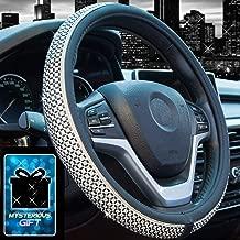 Didida Bling Steering Wheel Cover for Men Women Diamond Crystal Rhinestones Shiny Universal 15 Inch (Black)