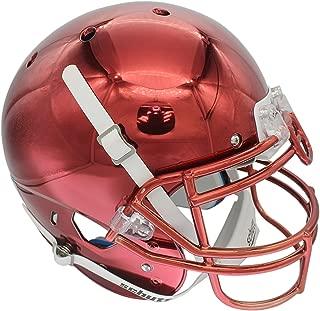 maroon chrome football helmet