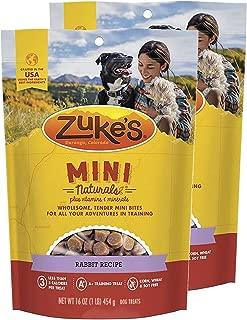 Zuke's Mini Naturals Dog Treats Rabbit Recipe 16 oz 2 Pack