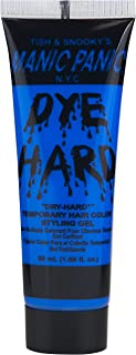 Manic Panic Electric Sky Blue Hair Color Gel - Dye Hard - Temporary Vivid Blue Hair Styling Gel - Glows Under Black Lights - Vegan Hair Dye For Adults & Kids of All Hair Types (1.66 oz)