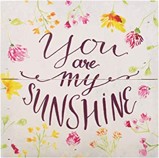 P. Graham Dunn You are My Sunshine Floral Multicolored 7 x 7 Pine Wood Boxed Pallet Plaque