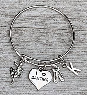 Personalized Dance Bangle Bracelet- Dance Jewelry - Perfect Gift For Dance Recitals & Dancers