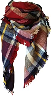 MOTINE Tartan Blanket Scarf Stylish Winter Warm Pashmina Wrap Shawl for Women