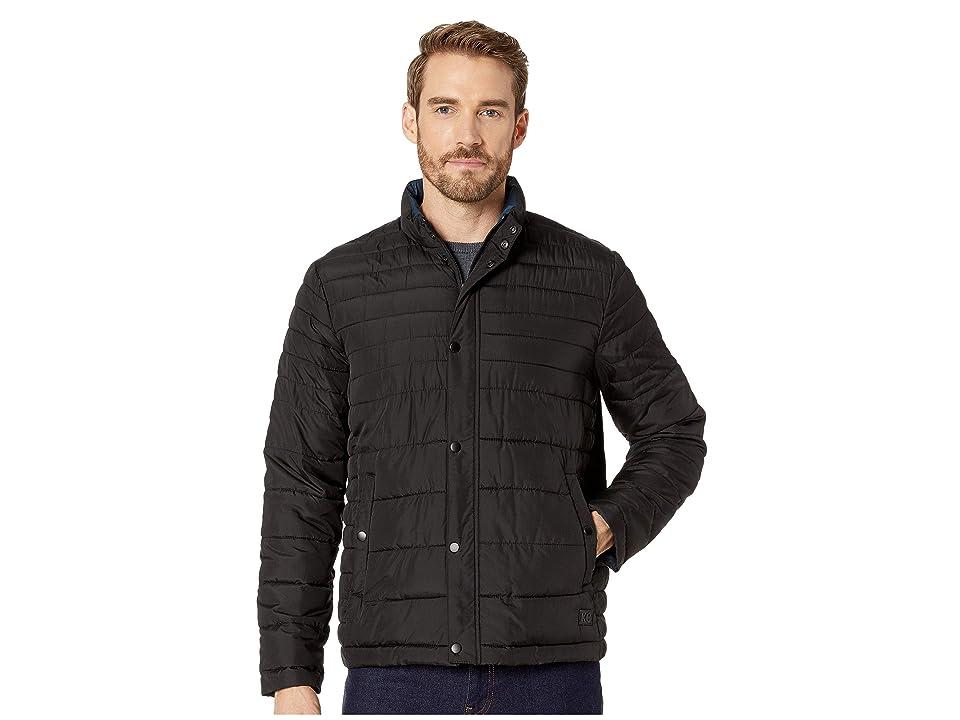 Kenneth Cole New York Horizontal Basic Puffer Jacket (Black) Men