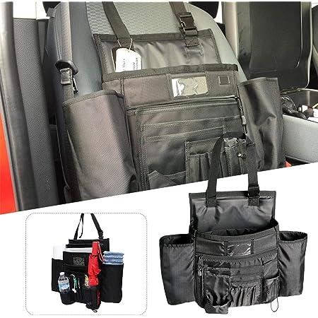 Car Seat Organiser Multi Pocket Bottle Holder Front Passenger Office Accessories Seat Storage Bag For Laptop Tablet Travel Musical Instruments