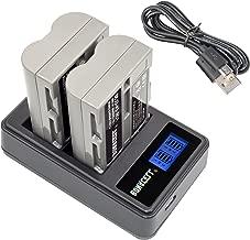 Bonacell EN-EL3E Battery(2 Pack) 2000mAh and LCD Dual Charger Compatible with Nikon D700, D300S, D300, D200, D100, D90, D80, D70, D70s, D50 Digital SLR Camera