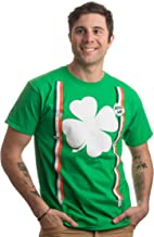 St. Patrick's Day Shamrock Suspenders | Funny St. Paddy Irish for Men T-Shirt