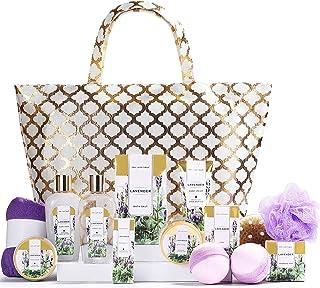Spa Luxetique Spa Gift Basket, Gift Set for Women - 15pcs Lavender Spa Baskets, Relaxing Spa Kit Includes Bubble Bath, Bat...