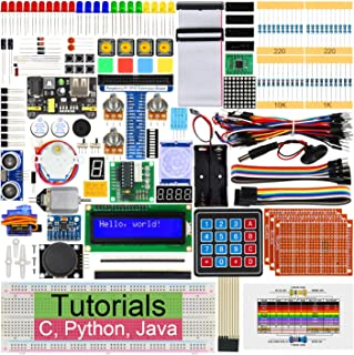 Freenove Ultimate Starter Kit for Raspberry Pi 4 B 3 B+ 400, 434-Page Detailed Tutorials, Python C Java Code, 223 Items, 5...