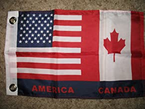usep USA Canada American Canadian Friendship 12x18 Boat Flag Indoor/Outdoor
