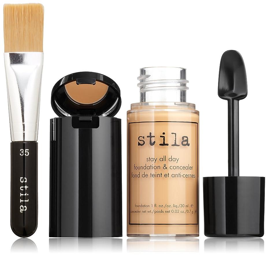 作り自体いつスティラ Stay All Day Foundation, Concealer & Brush Kit - # 9 Medium 2pcs並行輸入品