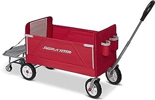 Radio Flyer 3 合 1 EZ 折叠车乘坐车 Tailgater 红色