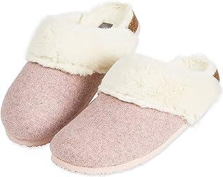 Dunlop Zapatillas Mujer, Zapatillas Casa Mujer con Forro Polar, Pantuflas Mujer Suela de Goma Antideslizante, Regalos para...