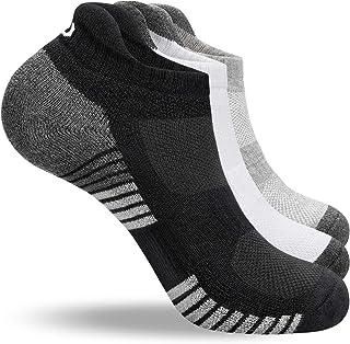 coskefy Running Socks Cushioned Sports Socks Ankle Socks Trainer Socks for Men Women Ladies Cotton Low Cut Athletic Socks ...