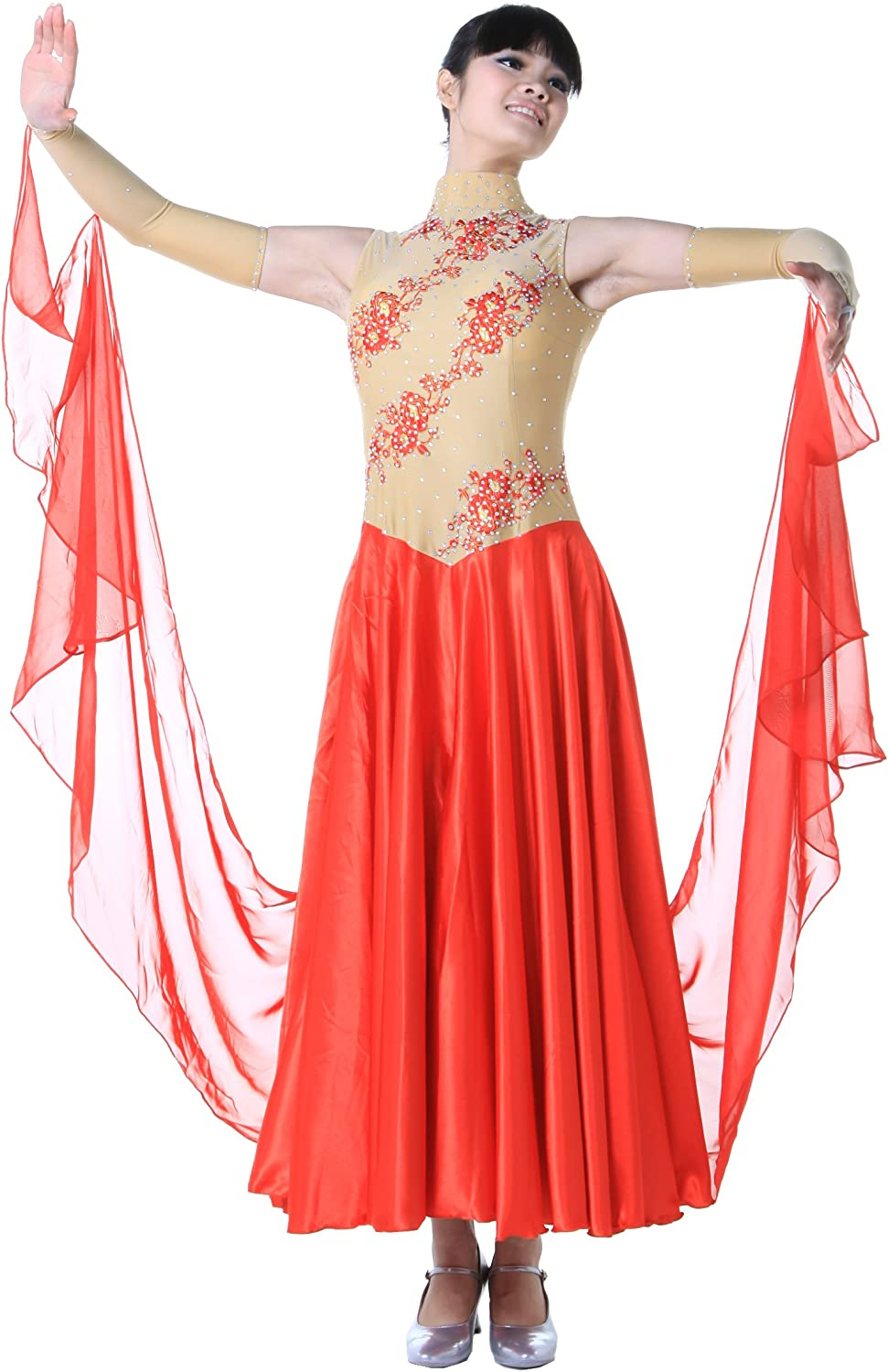 colorfulworld Lady Ballroom Modern Waltz Tango Dance DressOver all dress