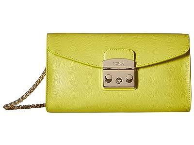 Furla Metropolis Small Pochette w/ Chain (Lime) Handbags